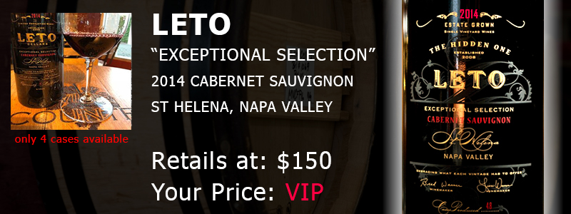 2014 LETO EXCEPTIONAL SELECTION CABERNET