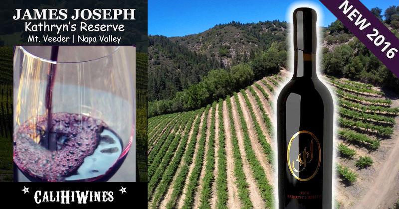 2016 James Joseph Wine Reserve Mount Veeder Proprietary Red