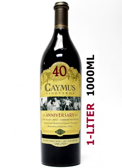 2012 CAYMUS 40TH ANNIVERSARY NAPA VALLEY CABERNET 1-LITER (1000ML)