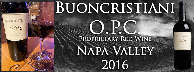 2016 BUONCRISTIANI OPC NAPA VALLEY RED BLEND