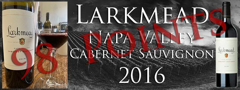 98 POINTS LARKMEAD NAPA VALLEY CABERNET 2016