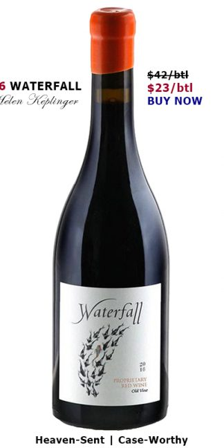 2016 WATERFALL RED WINE by WINEMAKER HELEN KEPLINGER