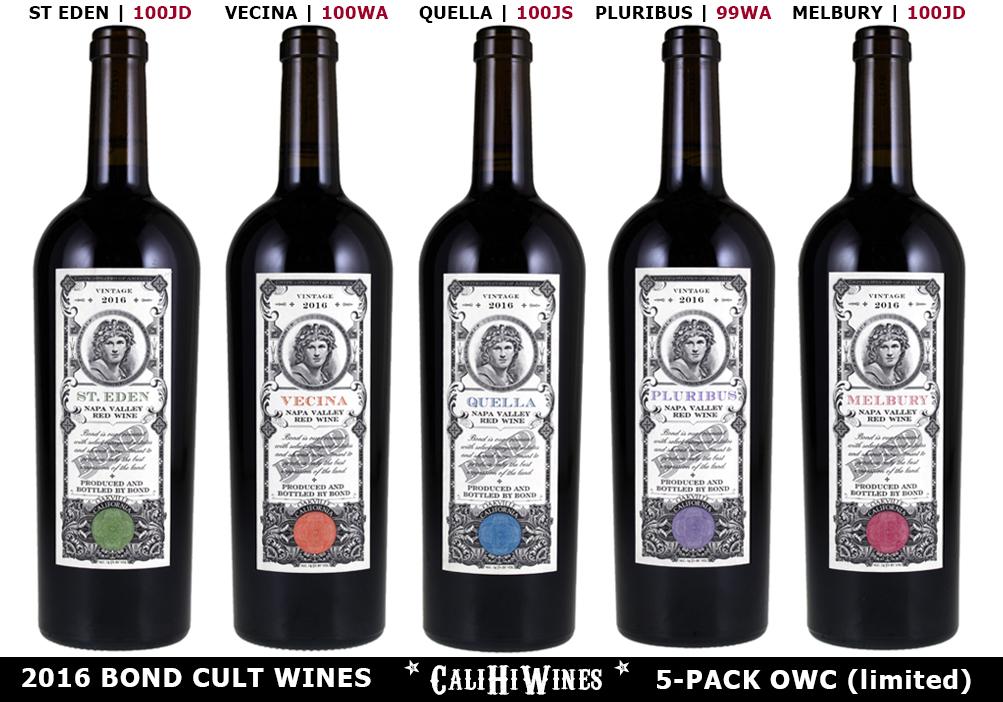 BOND 2016 CULT WINES CALIHIWINES