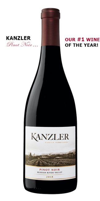 2018 KANZLER PINOT NOIR NUMBER 1 WINE OF YEAR