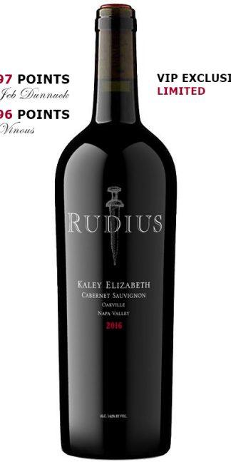 2016 Rudius Kaley Elizabeth Oakville Cabernet Sauvignon Napa Valley Cult Wine