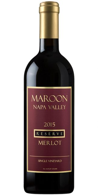 2015 MAROON SINGLE VINEYARD NAPA VALLEY RESERVE MERLOT