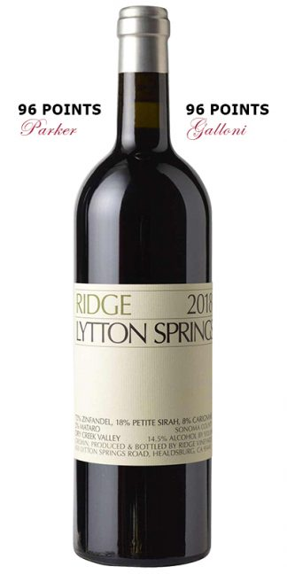 RIDGE LYTTON SPRINGS 2018 PROPRIETARY RED WINE