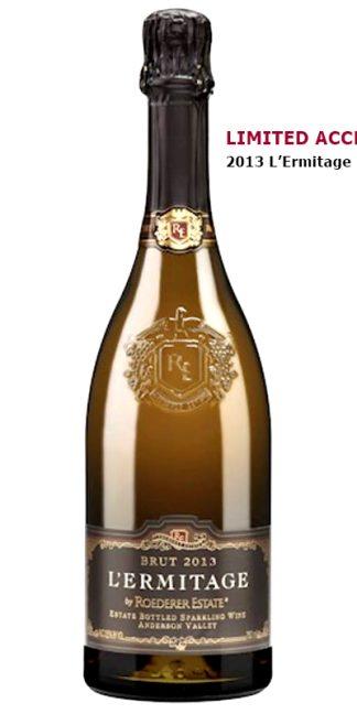 2013 ROEDERER L'ERMITAGE ESTATE BRUT, SPARKLING WINE