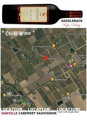 Saddleback Cabernet Oakville Napa Valley Map