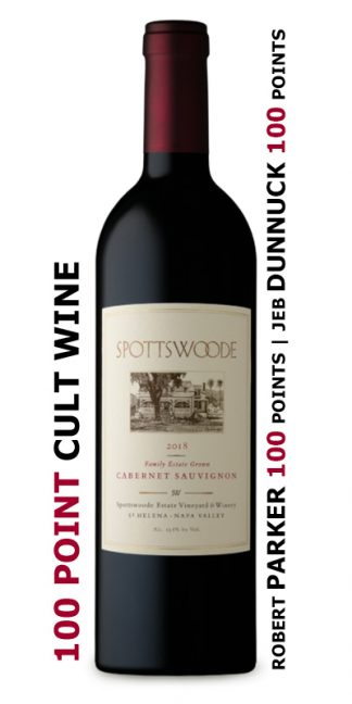 2018 SPOTTSWOODE ESTATE CABERNET SAUVIGNON 100 POINT WINE